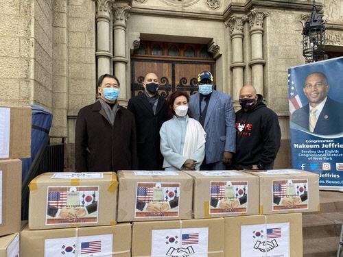 한인이민사박물관·뉴욕총영사관, 흑인사회에 마스크 2만장 기증